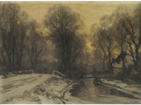 a winter scene by louis apol