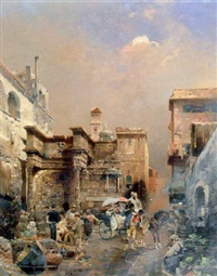 figures in a roman street by robert allot