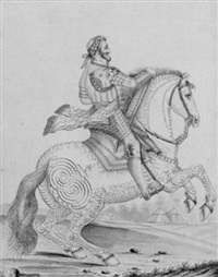 king henry iv on horseback by auvrest