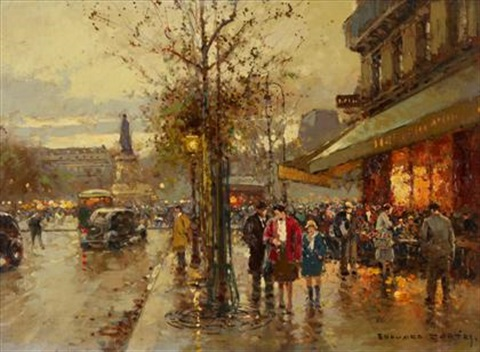 rue du temple paris by edouard léon cortès