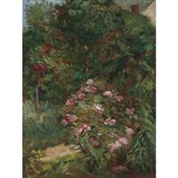 massif de fleurs, jardin du petit gennevilliers by gustave caillebotte