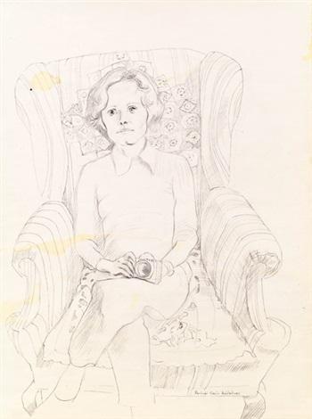 porträt karin achleitner by maria lassnig