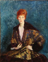 portrait of red-haired woman (marjorie organ henri?) by ruth pratt bobbs