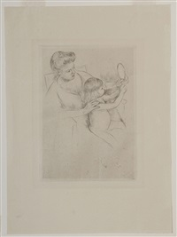 looking into the hand mirror, no.2 by mary cassatt