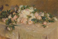 roses on a tabletop by wilton robert lockwood