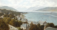 ardbeg and cowal hills, rothesay by albert dunington