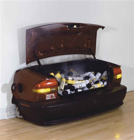 untitled car boot by barry mcgee