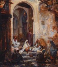 femmes à l'entrée des souks by charles ernest smets