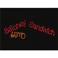 baloney sandwich; quiff by jason rhoades