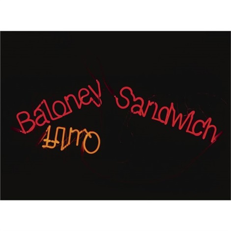 baloney sandwich quiff by jason rhoades