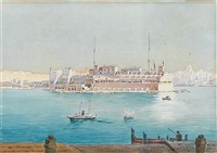 view of vittoriosa (birgu) and the grand harbour from valletta, malta by nicholas krasnoff