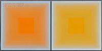 b and c (from the spectral 9 portfolio) (2 works) by richard anuszkiewicz
