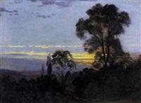 zonsondergang by alfred-eugene koechlin