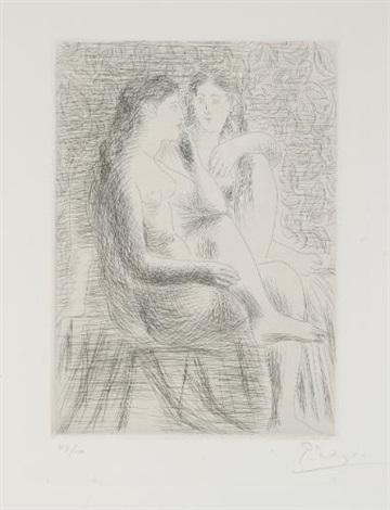 deux nus assis by pablo picasso