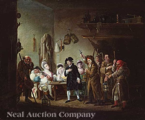a london tavern scene by william hogarth