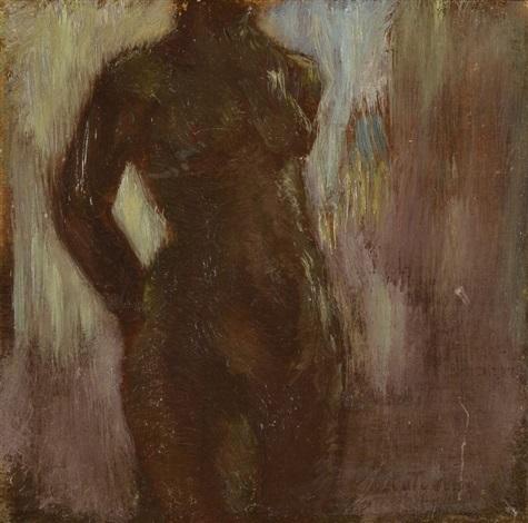 nu - étude de paysage (2 works) by gaston la touche