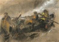 untitled (three fishermen in a rowing boat) by william selwyn