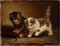 two kittens by cornelis raaphorst