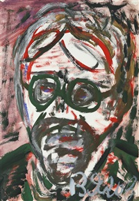 portrait of a medical worker with glasses by vladimir yakovlev