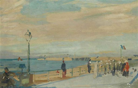 digue de dieppe by jacques emile blanche