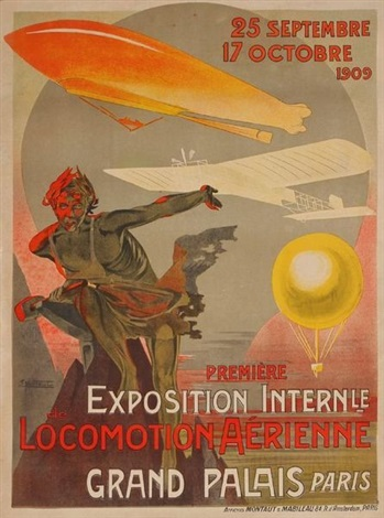 exposition internationale de locomotion aérienne grand palais paris by e montaut