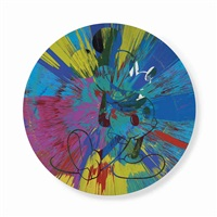 beautiful mickey mouse painting by damien hirst