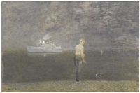 girl on the shore by richard eurich