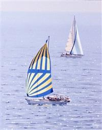 yachts at sea by virgilio raposo