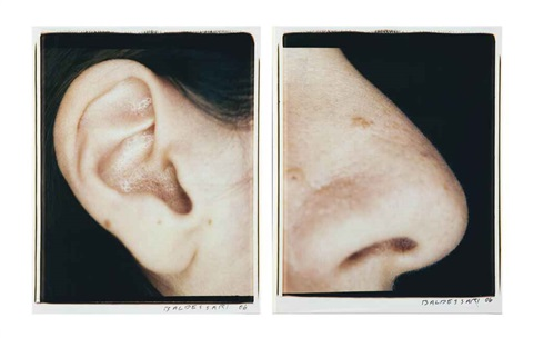 ear and nose: right side (analia) (diptych) by john baldessari