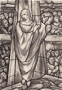christus segnet die armen by aloys (wachlmayr) wach