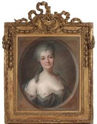 portrait de la baronne de dietrich, comtesse du ban de la roche, née amélie anne dorothée hermani by franz bernhard frey