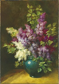 lilacs by gustave emile couder