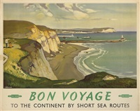 bon voyage, the sussex coast (poster) by leonard richmond