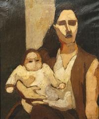 mère et enfant by maurice le scouézec