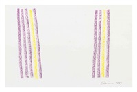 untitled (purple and yellow) by gene davis