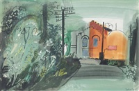 pumping station, milton, pembrokeshire by john piper
