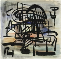 untitled (abstract) (from the chicago series no. 18) by robert jay wolff