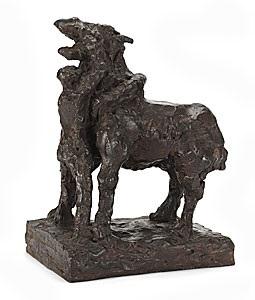 stående häst med man by asmund arle