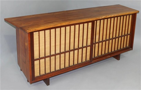 Black Walnut Stereo Cabinet By George Nakashima