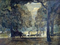 reiter im park by rudolf hellwag