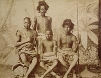 soldats soudaniens assis by hippolyte arnoux