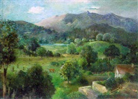landschaft bei münchen by ludwig wilhelm grossmann