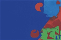 ultramarine with reds, blues and green at right: july 6 by patrick heron