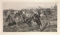 carica di cavalleria by giovanni fattori