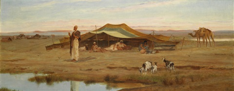the sheikhs evening prayer by frederick goodall