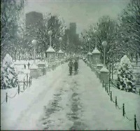 winter walk/a view of the public garden by e. joseph fontaine