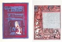 satyricon (portfolio of 18 works) by tono zancanaro