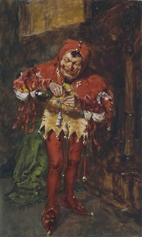 the jester (sketch of the court jester) by william merritt chase