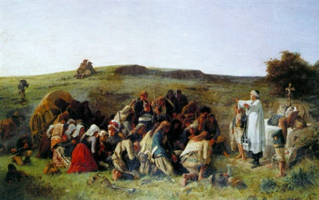 bénédiction des combattants vendéens by charles alexandre coessin de la fosse