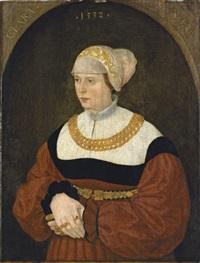 portrait of clara burckhardt by conrad (von creuznach) faber